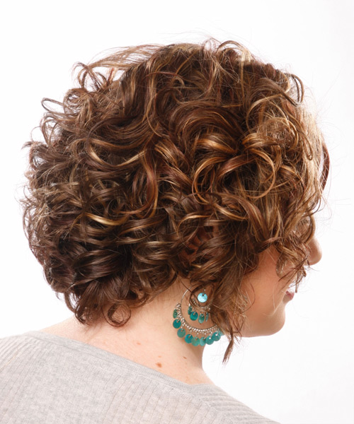 Medium Wavy Formal Hairstyle - Medium Brunette (Chocolate) - side view 2