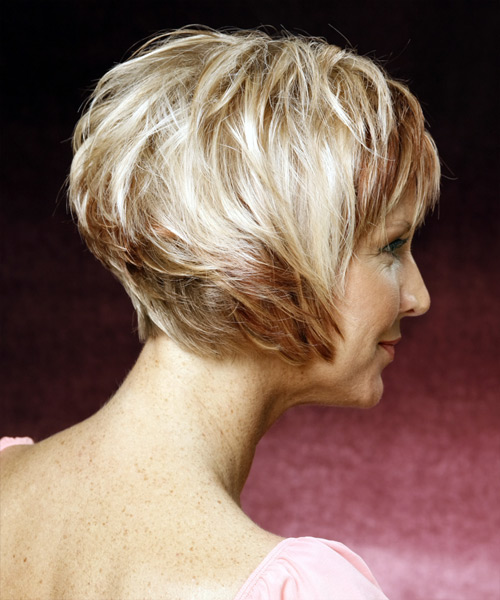 Short Straight Formal  - Light Blonde - side on view