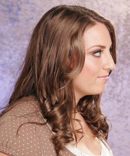 Long Wavy Formal Hairstyle - side view 2