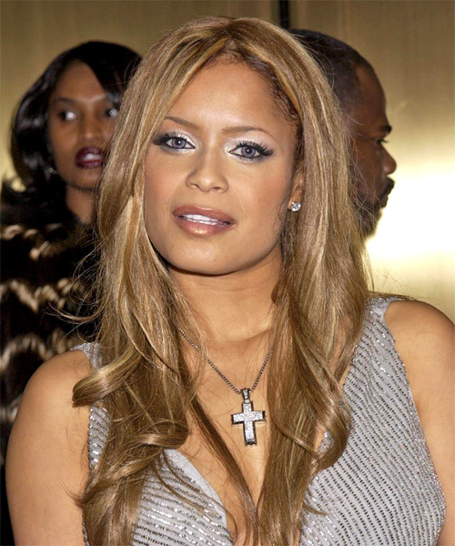 Blu Cantrell Long Wavy Hairstyle - side view