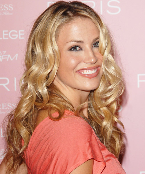 Willa Ford Long Curly Formal Hairstyle - side view