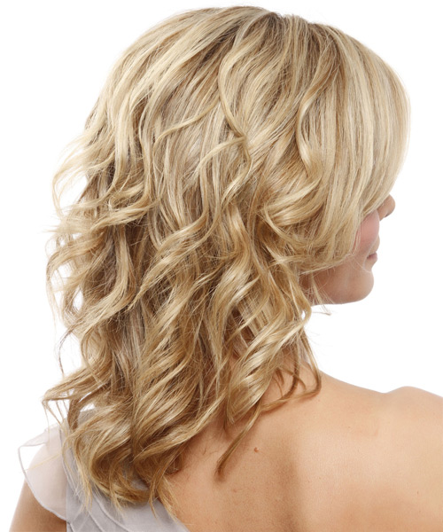 Medium Wavy Formal Hairstyle - Medium Blonde (Champagne) - side view 2