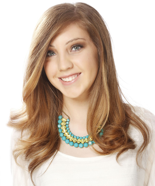 Long Straight Formal Hairstyle - Dark Blonde - side view 2