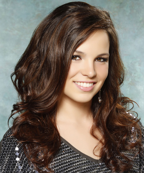 Long Wavy Casual Hairstyle - Medium Brunette (Chocolate) - side view 2