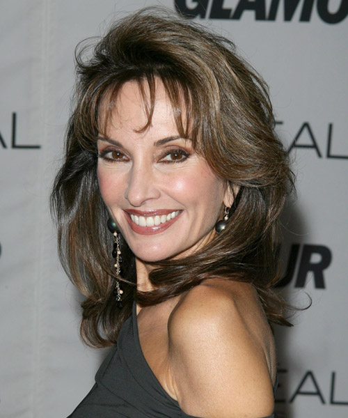 Susan Lucci Long Straight Formal Hairstyle - side on view