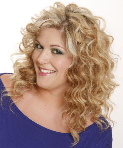 Long Wavy Casual Shag Hairstyle - Light Blonde (Champagne) Hair Color - side view