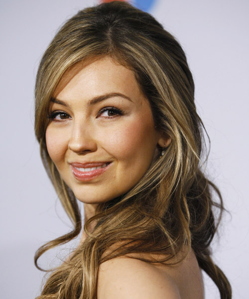 Thalia Long Wavy Hairstyle - side view