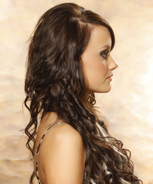 Long Curly Formal Hairstyle (Mocha) - side view 2