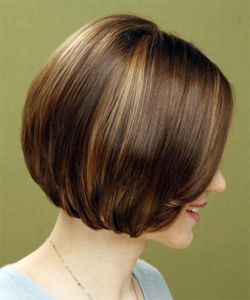 Medium Straight Casual Bob Hairstyle (Chestnut) - side on view