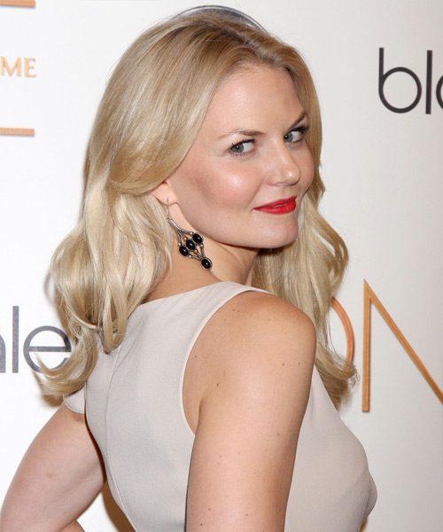 Jennifer Morrison Long Straight Formal Hairstyle - Light Blonde (Golden) Hair Color - side view