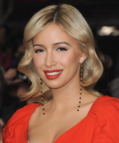 Christian Serratos Medium Wavy Hairstyle - side view