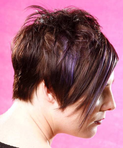 Alternative Short Straight Hairstyle - side view
