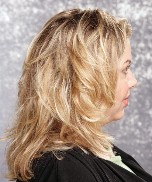 Long Wavy Casual Hairstyle - side on view