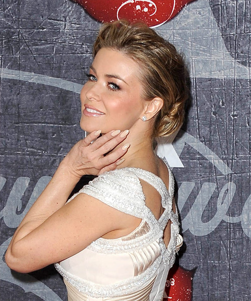 Carmen Electra Updo Long Straight Formal Wedding- side on view