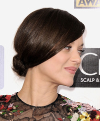 Marion Cotillard Updo Long Straight Formal  - side on view