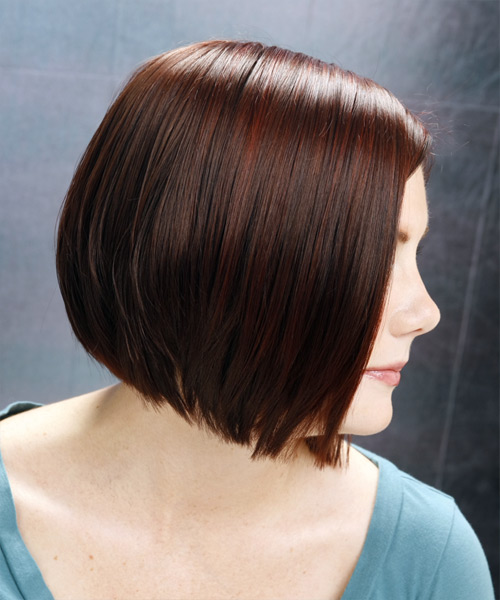 Medium Straight Casual Bob Hairstyle (Mocha) - side view 2