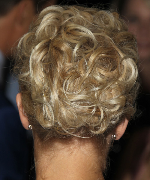 Julianne Hough Curly Formal Updo Hairstyle - Light Blonde (Golden) Hair Color - side on view