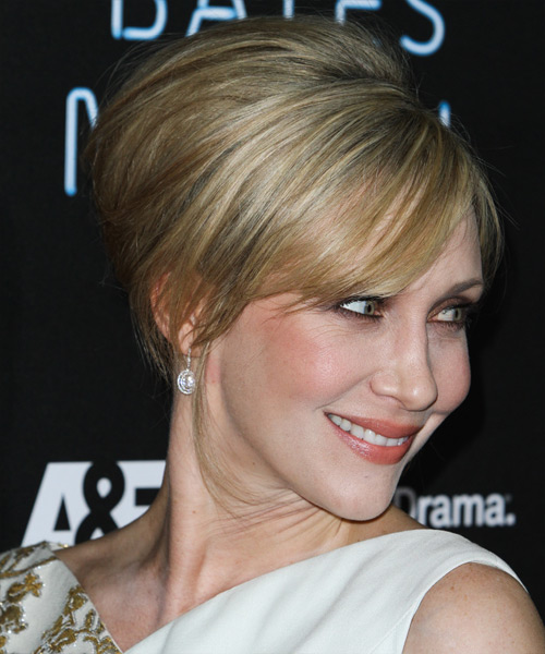 Vera Farmiga Updo Long Straight Formal Wedding- side on view