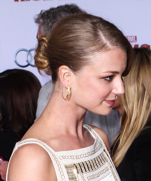 Emily VanCamp Updo Long Straight Formal Wedding- side on view