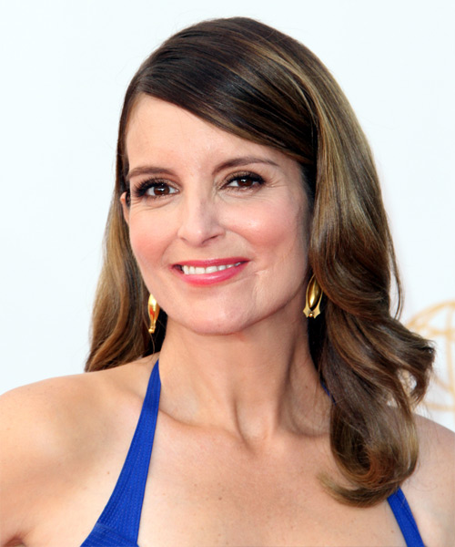 Tina Fey Long Wavy Hairstyle - side view 2