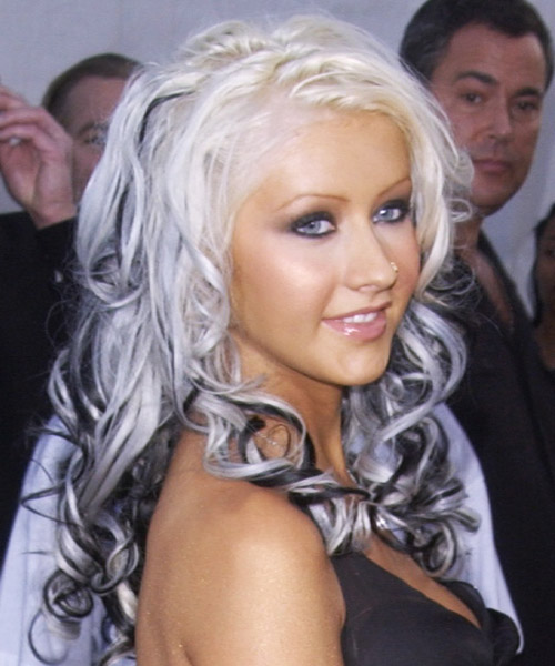Christina Aguilera Long Wavy Alternative Hairstyle - side view