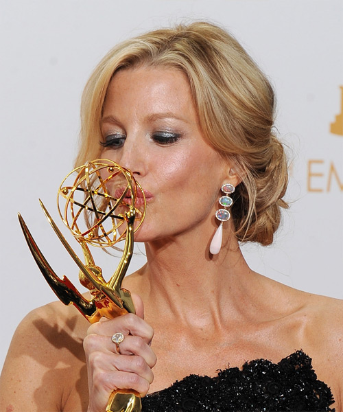 Anna Gunn Updo Long Curly Formal  - side on view