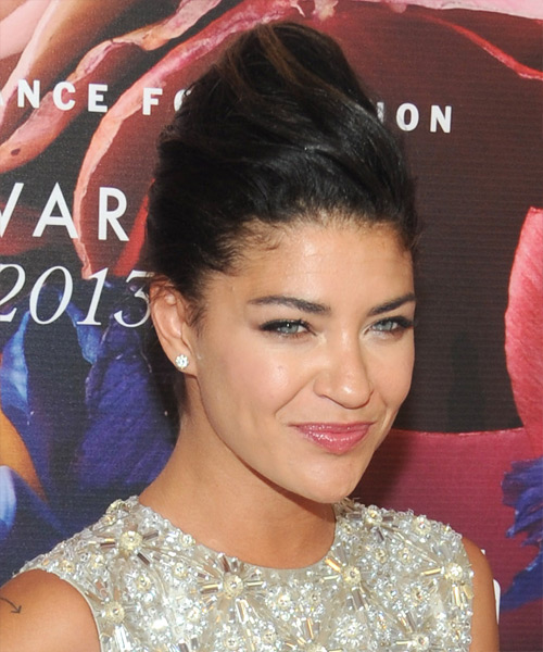 Jessica Szohr Formal Straight Updo Hairstyle - side view