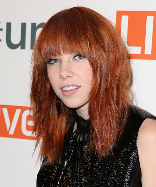 Carly Rae Jepsen Long Straight Hairstyle - side view