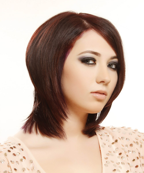 Medium Straight Formal Hairstyle - Medium Red - side view