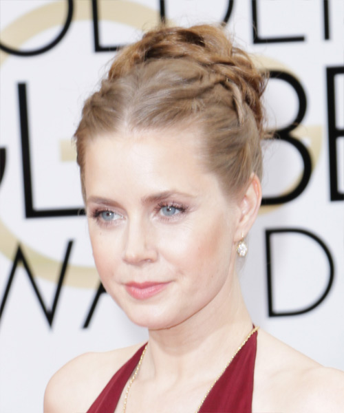 Amy Adams Curly Formal Updo Hairstyle - Light Red (Chestnut) Hair Color - side on view