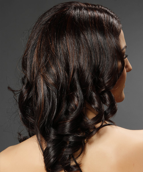 Medium Curly Formal Hairstyle - Dark Brunette Hair Color - side view