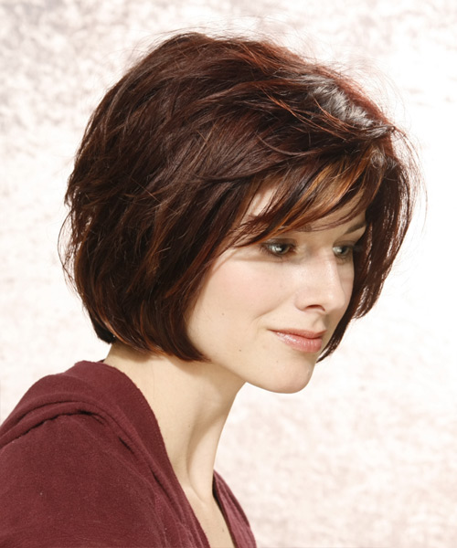 Medium Straight Casual Hairstyle - side view