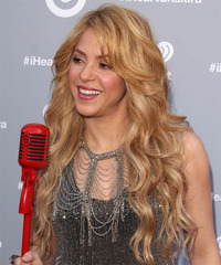 Shakira Long Wavy Casual  - side on view