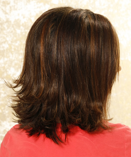 Long Straight Formal Hairstyle - side on view