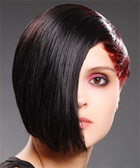 Medium Straight Alternative Hairstyle - click to view hairstyle information