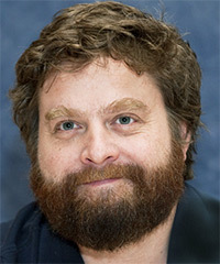 Zach Galifianakis Short Wavy Casual
