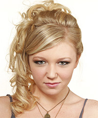 Updo Long Curly Formal