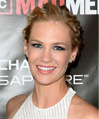 January Jones Updo Long Curly Formal