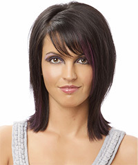Formal Medium Straight Hairstyle - click to view hairstyle information