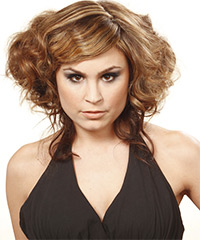 Half Up Long Curly Casual Hairstyle - click to view hairstyle information