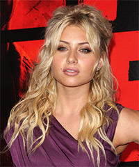 Alyson Michalka Half Up Long Curly Casual