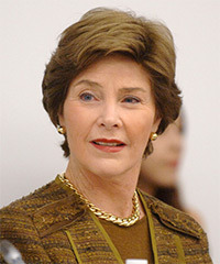 Laura Bush Hairstyle - click to view hairstyle information