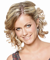 Updo Medium Curly Formal
