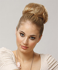 Formal Updo Long Straight Hairstyle