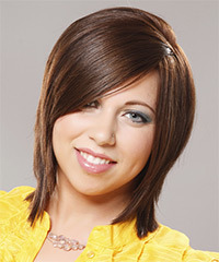 Casual Medium Straight Hairstyle - click to view hairstyle information