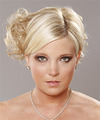 Side Parting Curly Wedding Updo