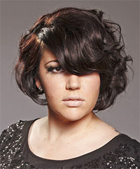 Short Wavy Casual Hairstyle - click to view hairstyle information