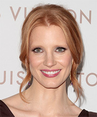 Jessica Chastain Updo Long Curly Formal