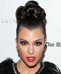 Kourtney Kardashian - Updo Long
