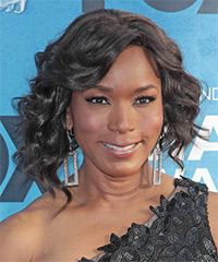 Angela Bassett Medium Curly Formal